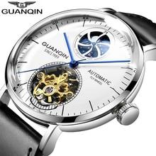 GUANQIN 2019 top brand luxury clock Mechanical watch men Automatic Skeleton Tourbillon waterproof Men watches relogio masculino стоимость