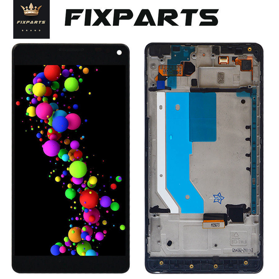 """Black For 5.7"""" Microsoft Nokia Lumia 950Xl LCD Display Touch Screen Digitizer Assembly With Frame For Lumia 950 XL RM-1116 LCD"""