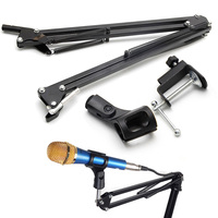 NB35 Microphone Foldable Tripod Table Capacitance Arm Moving Mic Stand Holder