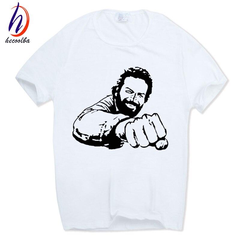 남성 인쇄 BUD SPENCER T - 셔츠 짧은 소매 O - 넥 여름 캐주얼 패션 T 셔츠 Camisetas Swag HCP666