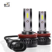 цена на 2Pcs Fuxuan 12000LM Mini H7 LED Car Light Headlight Bulbs H1 LED H8 H9 H11 9005 HB3 9006 HB4 Auto 12V 24V LED  Lamps Automobiles
