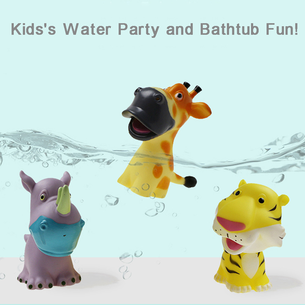 Bath Toys In The Bathroom Baby Toy For Children Water Spray Animal Soft Rubber Toys Bear Frog Giraffe For Boys Girls A503