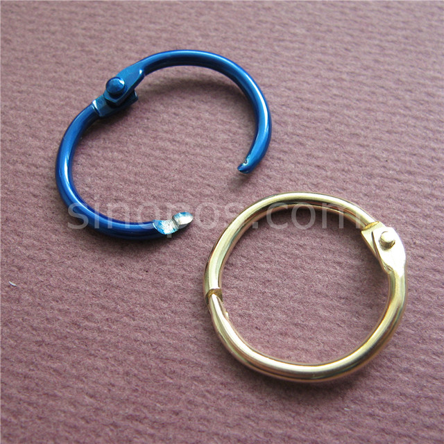 Online Shop Colored Metal Split Rings 20mm, Ring Binder Hinged Split ...