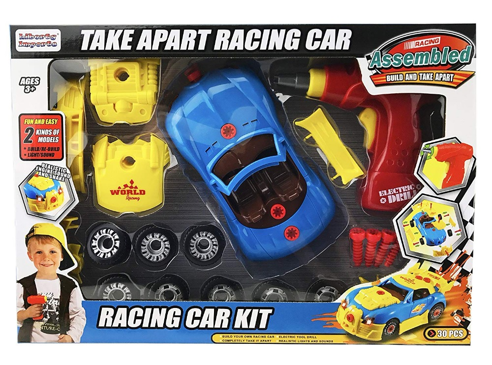 Build Your Own Car Kit >> Us 16 89 Take Apart Toy Race Car Build Your Own Racing Vehicle Kit Construction Set Working Power Drill Tools Lights And Engine Sounds In Diecasts