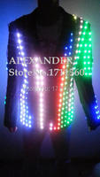 LED luminous Western style clothes for performance/business suit/light up suits/LED SUIT
