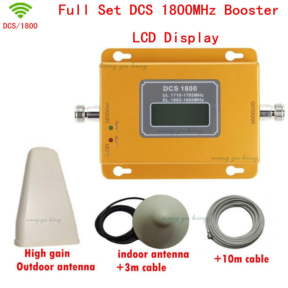 High Power Full Set 4G DCS Cellular Signal Repeater Signal Booster Dcs 1800 Mhz Cellpone Signal Repeater DCS Booster Amplifier