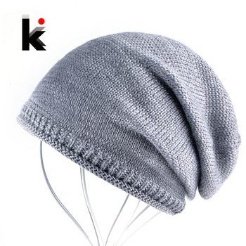 Autumn Knitted Wool Hats For Women Beanies Winter Knitting Wollen Hat Men Casual Solid Knit Unisex Skullies Gorros Touca Muts 1