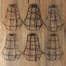 Vintage Retro Edison Pendant Light Bulb Iron Guard Wire Cage Ceiling Hanging Light Fitting Cafe Lampshade DIY Lamp Base holder(China)