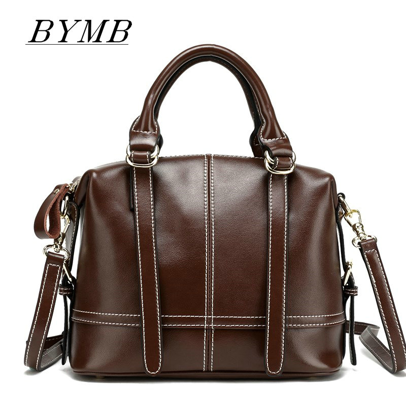 2017 Casual Tote Bag Big Shoulder Bags For Woman Real Cow Leather Ladies HandBags Women 100% Genuine Leather bags
