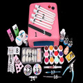 gel nail set with uv lamp 36W UV Lamp + 6 Color 10ml soak off base top coat polish with Remover Practice set File kit