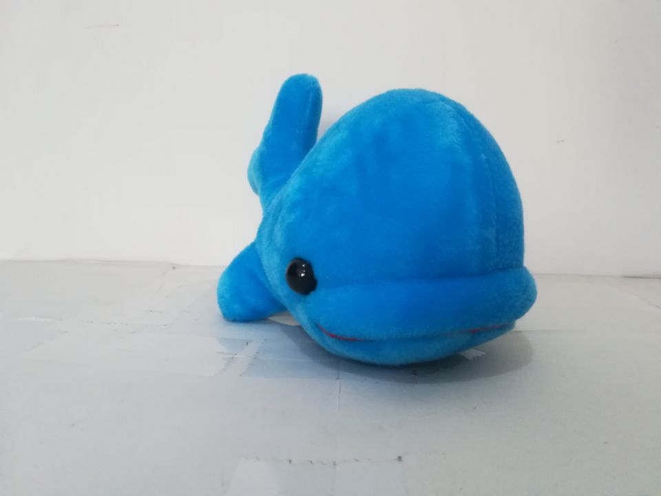 about 24cm blue cartoon dolphin plush toy big head dophin soft doll christmas gift s2132