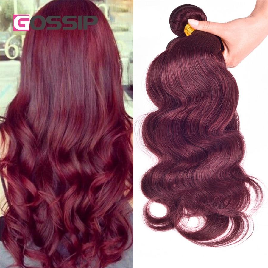 Peruvian Virgin Hair Body Wave 4 Hair Bundles Red Wine 99j
