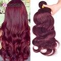 Peruvian Virgin Hair Body Wave 4 Hair Bundles Red Wine 99J Burgundy Peruvian Body Wave Hair Burgundy Weave Human Hair Extensions