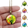 2017 Fashion Style Tree Design Pendant Necklaces Beautiful Jewelry For Girls Antibrass Chain For Christmas Gift Birthday Gift