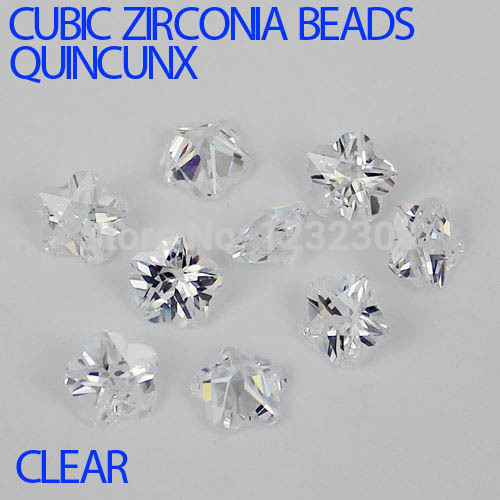 Glitter Cubic Zirconia Beads Beauty Quincunx Cut Zirconia Stones Supplies For Jewelry 3D Nail Art Decoration Crystal Clear Color elessical colorful crystal nail rhinestones 3d nail art decoration manicure jewelry copper beads glitter nail accessories
