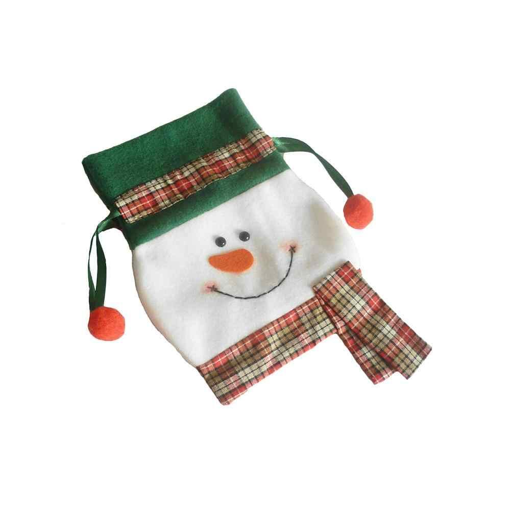 1 шт. Рождественский подарок сумка прекрасный Платье с изображением снеговика кучу мешок конфет орнамент вечерние украшения