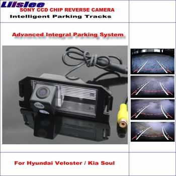 Liislee Hohe Qualität Intelligentized Auto Hinten Reverse Kamera Für Hyundai Veloster/Kia Soul/NTSC PAL RCA CCD 580 TV Linien