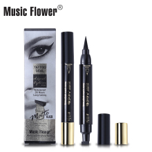 Music Flower Liqiud Eyeliner Pen Vandtæt 24H Langvarig Matte Eye Liner Sort Smud-proof Quick-Dry Makeup Pen