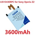 New Arrivals 3600mAh LIS1543ERPC Mobile Phone Battery for SONY Xperia Z2 L50 L50W L50U L50T D6502 D6503