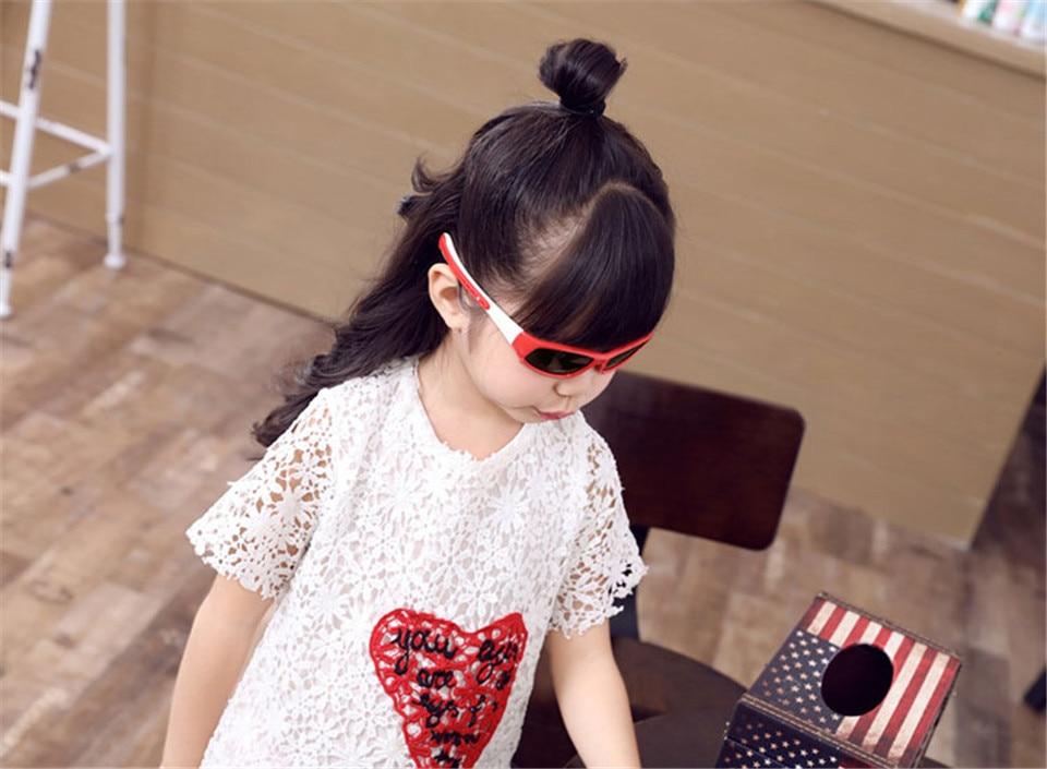 No easily broken Kids TR90 Polarized Sunglasses Children Safety Brand Glasses Flexible Rubber Oculos Infantil (10)