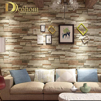Vintage 3D Brick Wallpaper For Bar Restaurant Shop Rustic Stone Cultural Wall Paper Rolls Background Mural