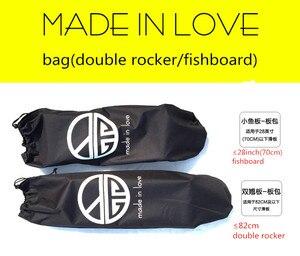 Image 2 - Skateboard Zaini SIngle Shouler Doppio Rocker/Piccolo Fishboard Che Trasportano Borse con Coulisse