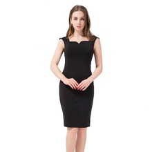 Free Shipping Backless Women Dress 2016 Summer Style 4XL Plus Size Women Clothing Solid Pencil Dress Fashion Black Vestidos