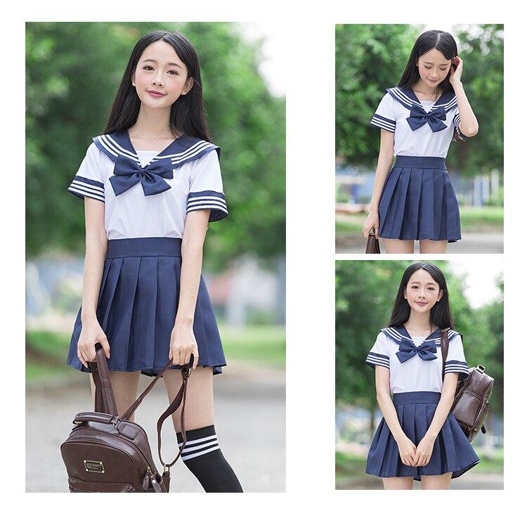 9a9e3d04b2 Uniformes escolares niñas sailor escuela uniforme japonés Escuela ...