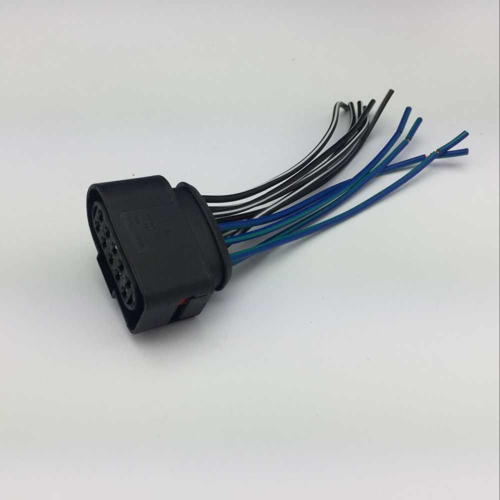 for vw audi passat b7 cc golf jetta 4 headlight plug headlamp connector wire harness socket [ 1000 x 999 Pixel ]