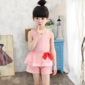 2016 Fashion new Baby clothes Girls Sets summer lace  Print Tops +pant Girls clothes set