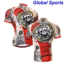 2017 Summer men's short sleeve skulls cycling jersey cool shirt unique bicycle wear