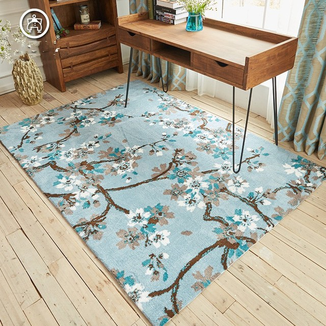 moderne chinois paiting style de mariage tapis bleu salon tapis de sol 200 300 cm de chevet. Black Bedroom Furniture Sets. Home Design Ideas