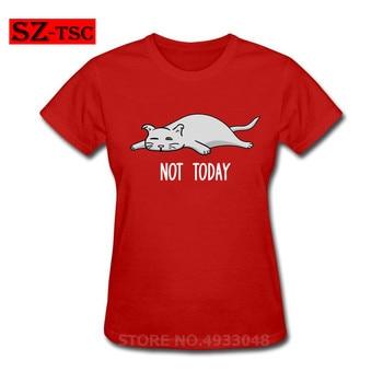 Shrek T Shirt Not today funny cute lazy sweet cat kitten gift T-Shirt Graphic Tee Shirt Funny Short Sleeves Womens Cotton Tshirt