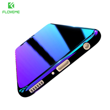 FLOVEME Gradient Aurora Blue Ray Hard Case For Samsung Galaxy S7 S6 S8 Edge Cover For Xiaomi Mi5 Redmi 4 Pro For Huawei Mate 9