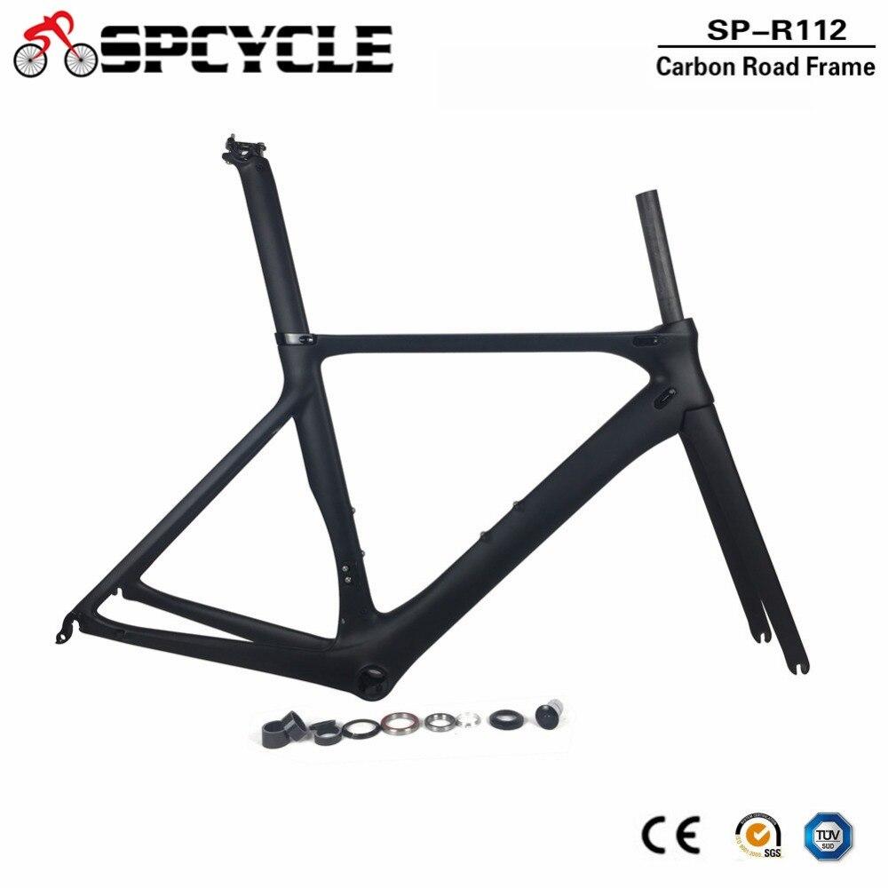 Spcycle Aero Carbone Vélo De Route Cadre Chine Usine Pas Cher Route Vélo Vélo Cadres OEM Ultra-Léger Carbone Vélo De Course Cadre
