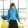 Пуховик, вязание бита рукав куртка корейский молодая девочка осень и зима Casaco Feminino зима пальто женщины
