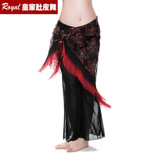 Hot embroidery bellydance hip scarf with Dual color Hip Scarves Women Belly dance costume fringe shawl Belly dancing Belt 9755