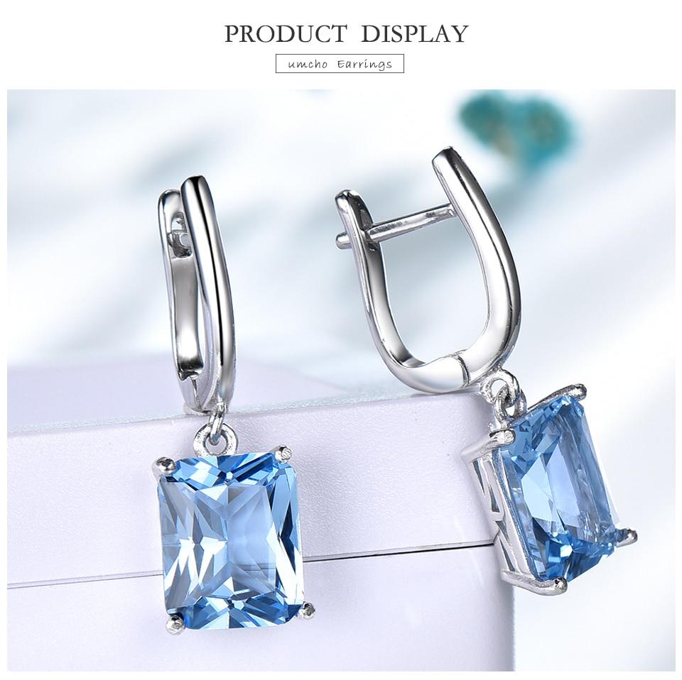 Honyy ?Nano Sky Blue Topaz 925 sterling silver earring for women EUJ094B-1-pc (3)