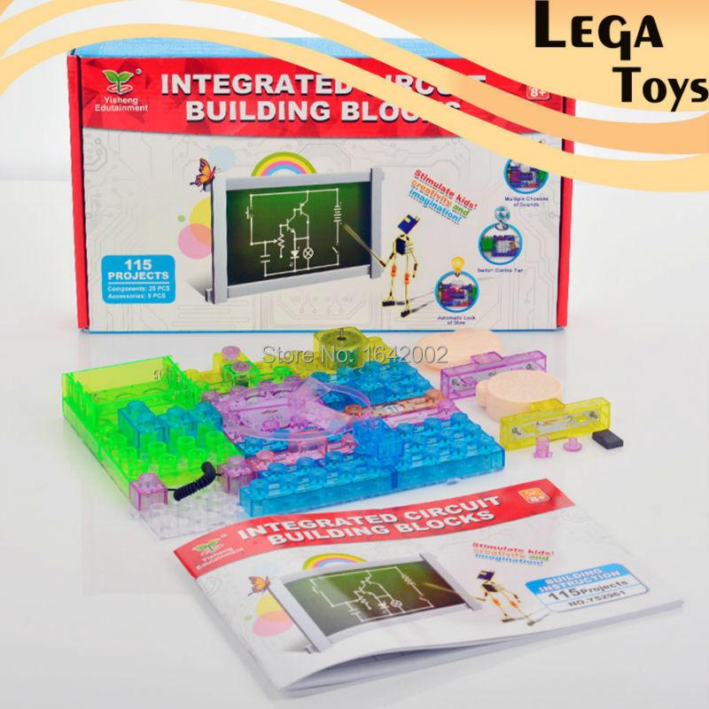 New Educational Toys for kids Game Electronic Building Blocks Sets Enlighten Bricks Physics Learning Best Gift for Children