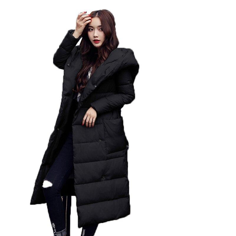 De Haute Gray Fond Coton Chaud Coréenne Wine Épais À 2019 Nouveau black Femmes Long Capuche Vers Le Veste Élégant Qualité Hiver red Down D'hiver Bas rpwc1qrd