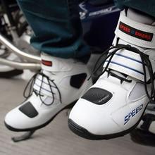 Para motocicletas botas motorcycle botas Motocross VELOCIDADE Profissional Não-slip botas de corrida de moto feminino masculino lanchas