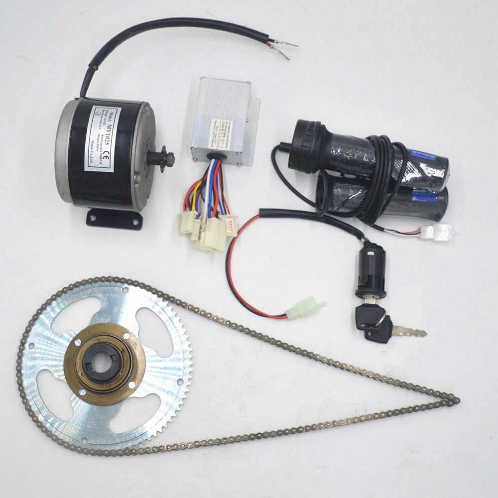 Electric Bicycle Kit 24V 250W Brushed DC Motor DIY E-Scooter Mini Emoto High-speed Brush Gear Decelerating Motor Conversion