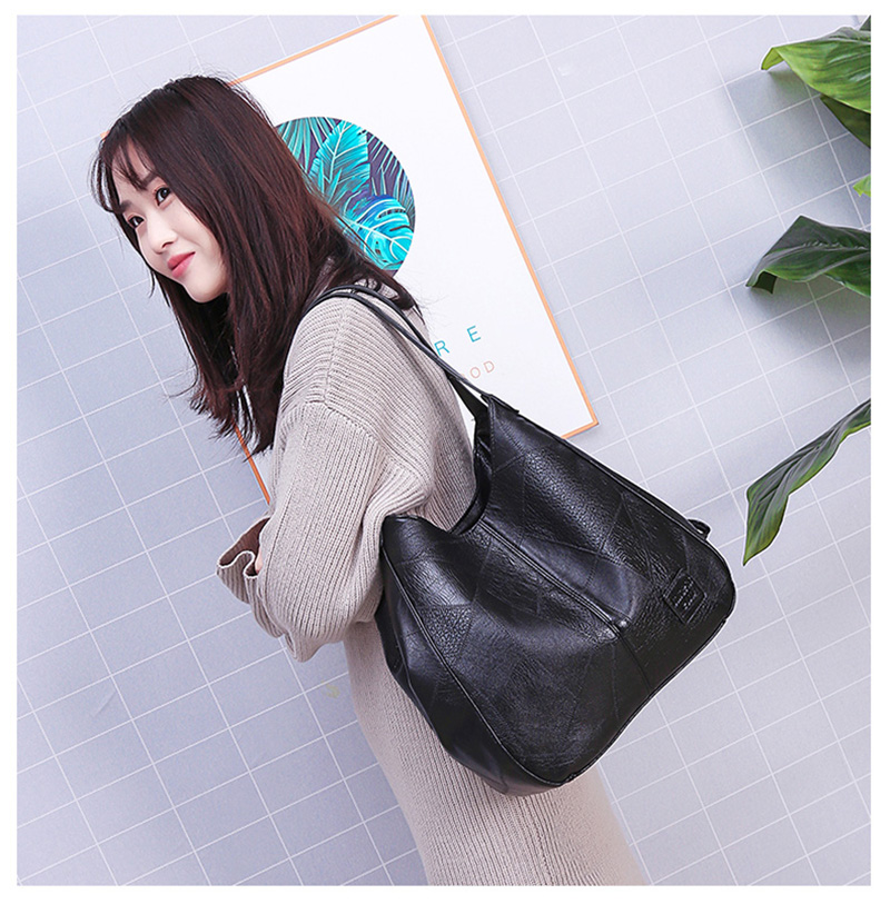 2019 Vintage Women Shoulder Bag Female Causal Totes Bags Large Capacity Luxury Designer High Quality Ladies Handbag Sac Femme 15