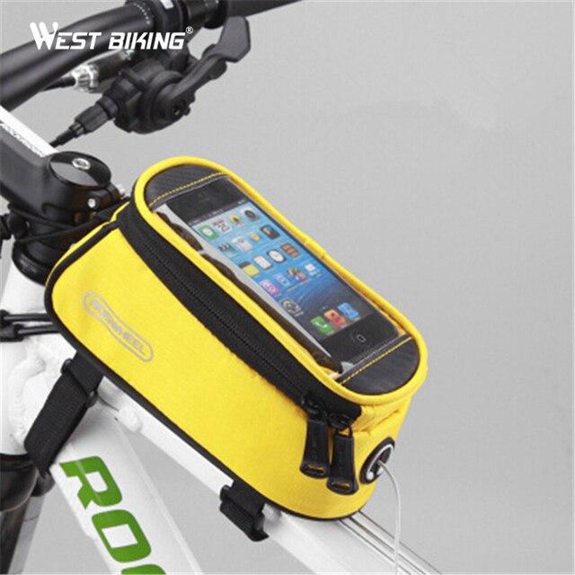 WEST BIKING 4.2/4.7/5.5 Inch Phone Bag For Bicycle MTB Road Bike Front & WEST BIKING 4.2/4.7/5.5 Inch Phone Bag For Bicycle MTB Road Bike ...