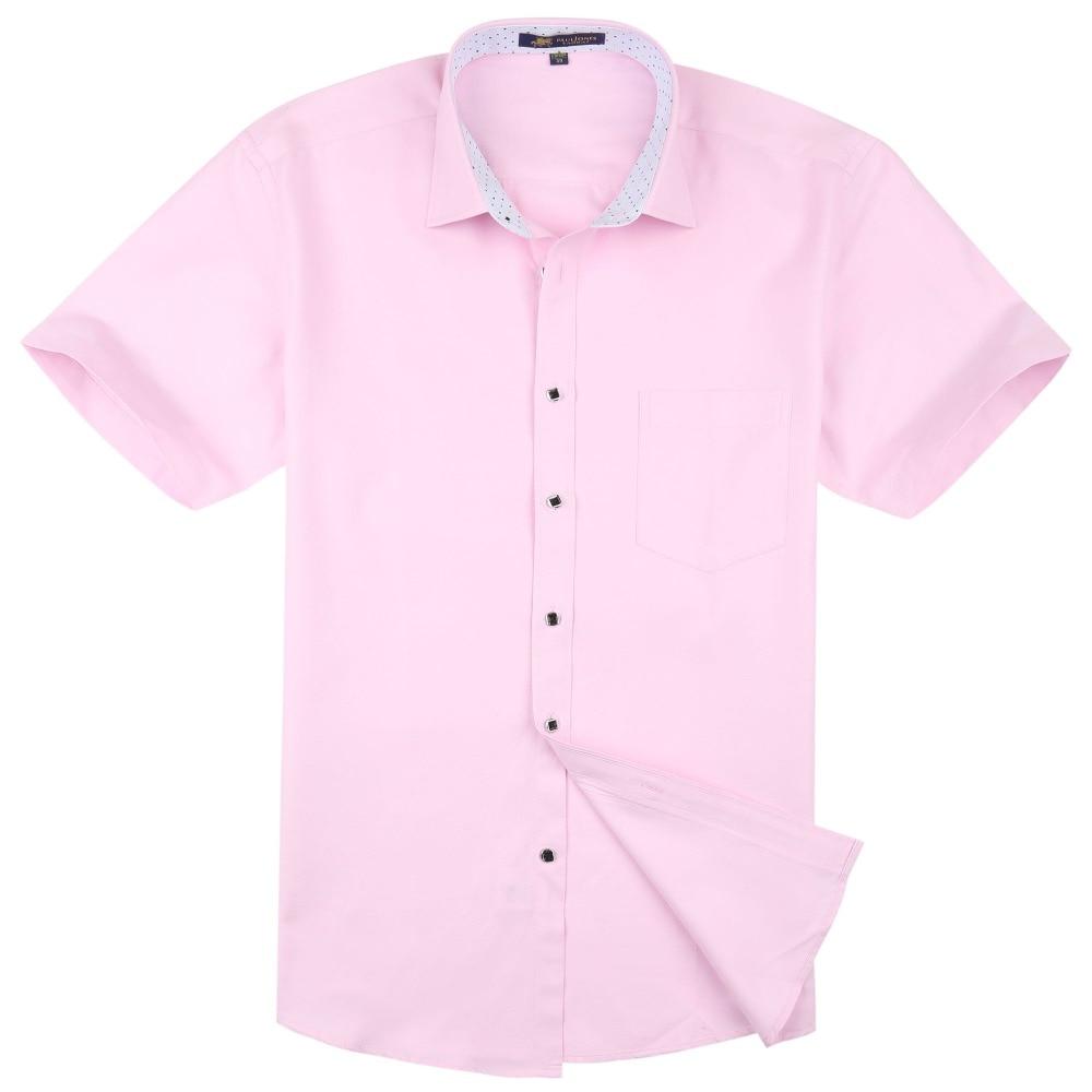 PaulJones D422x Kualiti Fesyen Korea Mens Linen Shirts Lengan Pendek - Pakaian lelaki - Foto 2