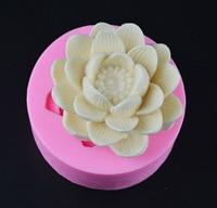 연꽃 꽃 3D 촛불 금형 실리콘 퐁당