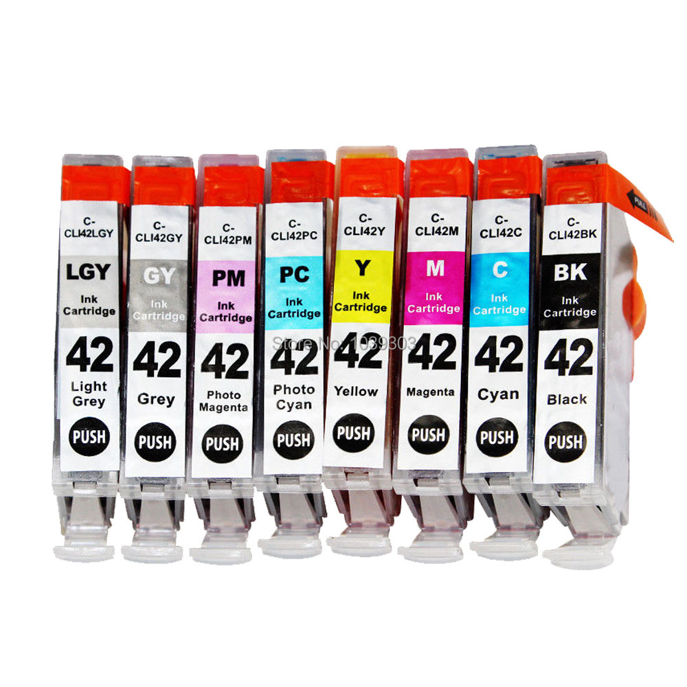 8x Ink Cartridges Compatible for Canon Pixma Pro 100 S Pro 100s Printer CLI 42 ...