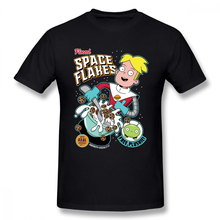 Novelty Final Space Flakes Mooncake Chookity T Shirt Man Stylish Big Size Cartoon Tee Shirt