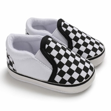 Baby Boy Shoes Infant First Walkers Nonslip Plaid Toddler Ba