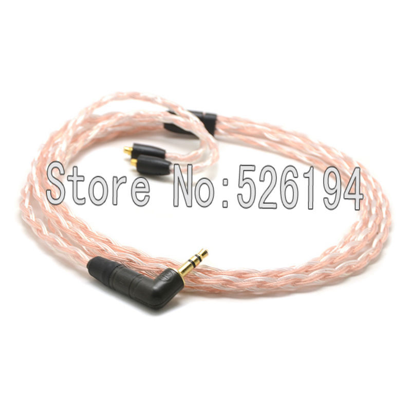 Free shipping 5N OFC copper Silver Plated Cable For se215 se315 se425 se535 Se846 headphone cable free shipping 1 2 meter pieces 5n ofc copper cable for ultimate ears ue tf10 sf3 sf5 5eb 5pro triplefi 15vm tf15 headphone cable